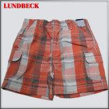 Plaid Board Shorts for Boy ′s Wear