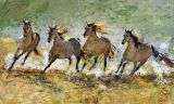 Horse on Painting for Home Decoration