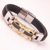 Personality Mens Jewelry Titanium Leather Bracelet