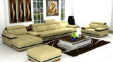 High Quality L Shape Genuine Leather Sofa for Home Furniture (957)