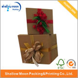 2016 Kraft Bowknot Square Gift Packing Box (QY150109)