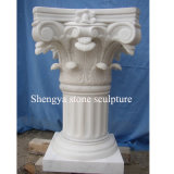 White Marble Stone Sculpture Pillar (SY-C015)