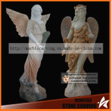 Beauty Maiden Archangel Stone Statues for Garden Ns024
