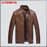 Simple PU Jacket for Men with Competitive Price