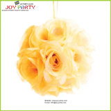 New Style Decorative Yellow Flower Ball Hanging