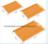 B9005 Bamboo Tea Tray with Handles Tea Plate Rectangle Shape