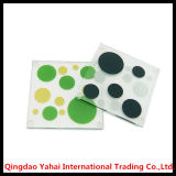 4mm Square Tempered Glass Coaster with Decal Pattern
