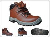 Leather Upper Steel Toe Sole Anti-Static Slip Resistant Safety Shoes