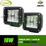 18W 3inch LED Work Light with 6PCS 3W CREE LEDs for Truck