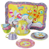 Fruity Tin Tea Set Toy Kids Mini Kitchen Set