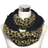 Lady Fashion Polyester Leopard Infinity Scarf (YKY4367)