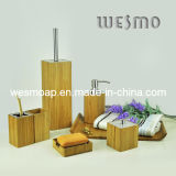 Square Bamboo Bath Set with Metal Parts (WBB0303A)