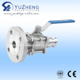 3 Piece Flanged Ball Valve with F Type Quick Coupling