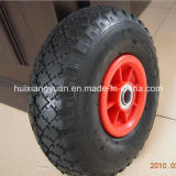 """10"""" 3.50-4 Rubber Pneumatic Wheel for Wheelbarrow and Hand Trolley"""