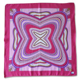 Polyester Matte Satin Printed Square Silk Scarf (YKY4136)
