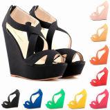 Fashion Faux Suede Belt Women Sandals