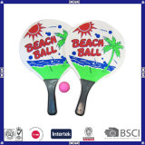High Quality Custom Print Logo Wood Beach Racket