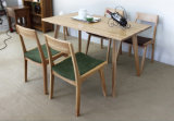 Oak Wood Dining Set Good Quality Restaurant Table with Chair (M-X1018)