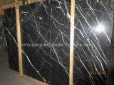 Black Marquina Marble Slab or Tile for Bathroom Floor