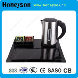 Stainless Steel Electric Kettle with Melamine Tray Set