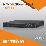 16CH 1080P Ahd Tvi Cvi Cvbs NVR Hybrid 5 in 1 DVR Support 2PCS HDD (6416H80P)