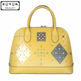 Lady Tote Bag with Pattern Decorate Use Pearl and Nail (Z-8006-3#)