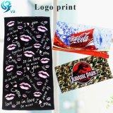 Simple Design 100% Cotton Velour Reactive Print Custom Brand Logo Towel