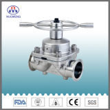 Clamped Diaphragm Valve with Ss Hand Wheel