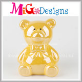 Decorative Ceramic Arts Bear Coin Bank for Kid′s Gifts