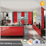 Kitchen Furniture Red High Glossy Lacquer Kitchen Cabinets
