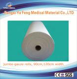 Factory 100% Bleached Cotton Absorbent Jumbo Gauze Roll