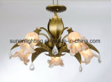 with Glass Shade Decorative Indoor Bronze Iron Ceiling Lamp