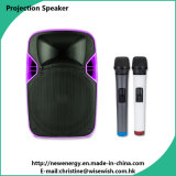 ODM 12 Inches Plastic Speaker Box with LED Projector