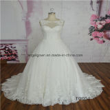 Princess Dress Lace A-Line Sleeveless Bridal Gown From China