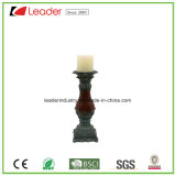 Hand Painted Polyresin Pillar Candle Holer for Home and Table Decoration