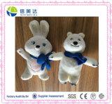 White Plush Sochi Bear and Rabbit Stuffed Olympic Mascots