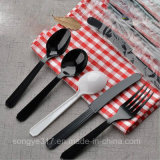 PS Black & White Disposable Plastic Knife and Fork
