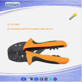 Hand Crimping Plier for Insulated and Non-Insulated Cable End-Sleeves