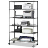 Wholesale Price 6 Shelf Adjustable Steel Wire Metal Shelving Rack for Commercial Used
