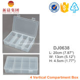 4 Vertical Compartment Clear Lure Box