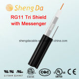 Rg11 Tri-Shield with Messenger 75 Ohms Indoor or Outdoor Coaxial Cable