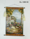 Mediterranean Garden Pattern Home Decorative Canvas Hanging Paintings