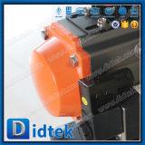 Didtek 2 PCS Stainless Steel 304 Pneumatic Floating Ball Valve