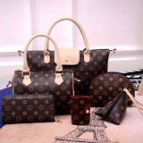2017-Wholesale-Supplier Women's Leather Bag 1/2/3/4/5/6-Sets Fashion Ladies Tote Bag Handbags