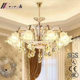 Crystal Sweet Zinc Alloy Atmosphere Candle Chandelier for Bedroom