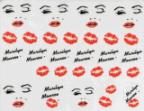 Fashionable Lips Water Transfer Nail Art Stickers Nail Sticker