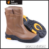 PU/Rubber Mixture Outsole Safety Boot with Genuine Leather (SN5199)