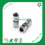 RG6 Cable Compression Type F Male Crimp Connector CATV Connector