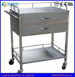 Hospital Furniture Multi-Function Stainless Steel Hospital Trolley