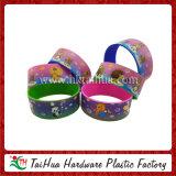 Fashion Colorful Heat Transfer Silicone Bracelet (TH-HT004)
